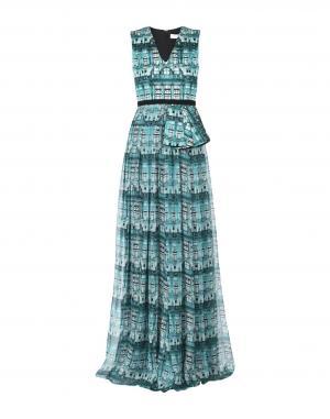 Длинное платье  Зеленый цвета