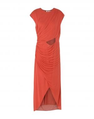 Длинное платье  Красный цвета