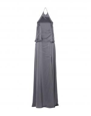 Длинное платье  Серый цвета