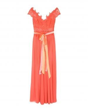 Длинное платье  Оранжевый цвета