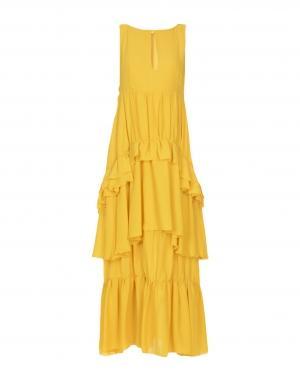Длинное платье  Бежевый,Желтый,Синий,Черный цвета