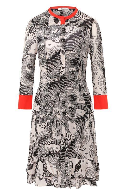 Платье  - Черно-белый цвет