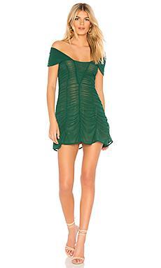 Платье  Темно-зеленый цвета