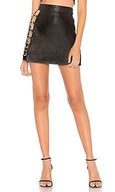 815c4ac6b2e Кожаная юбка-трапеция черного цвета Ostin за 1 599 руб. купить в ...