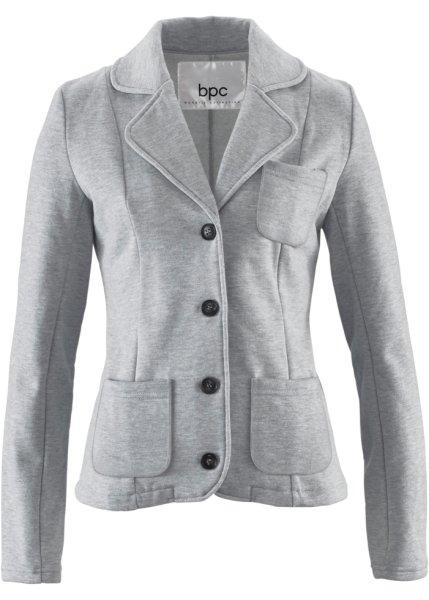 Пиджак  светло-серый меланж цвета