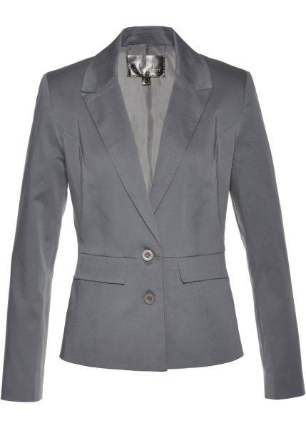 Пиджак  дымчато-серый цвета