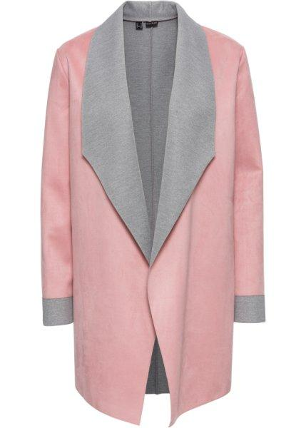 Пиджак  дымчато-розовый/светло-серый цвета