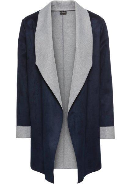 Пиджак  темно-синий/светло-серый цвета