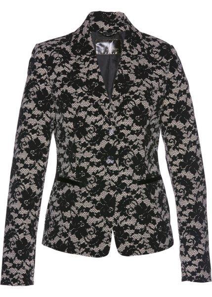 Пиджак  - каменно-бежевый/черный с рисунком цвет