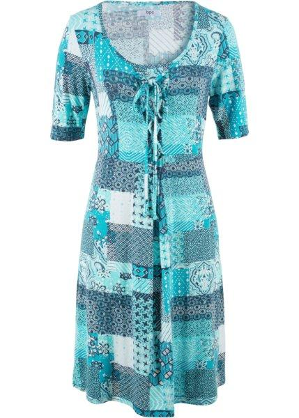 Платье  темно-бирюзовый с узором цвета