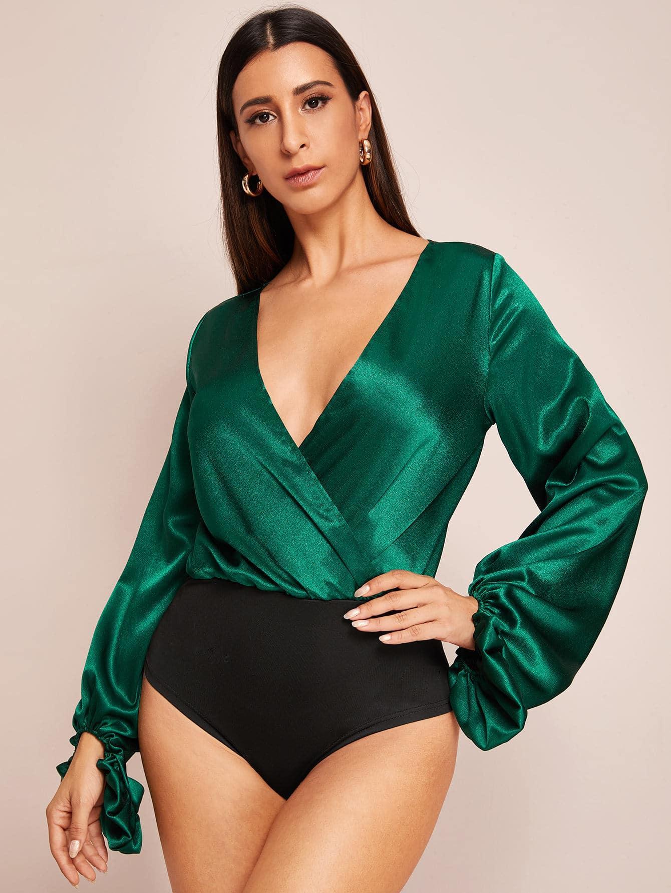 Боди  - Зеленый цвет