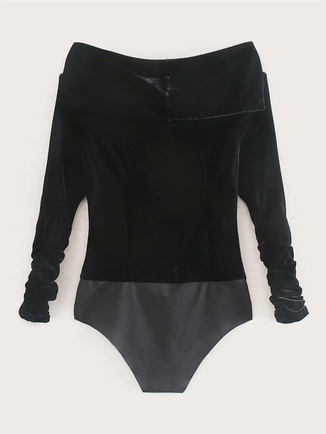 Боди  - Черный цвет