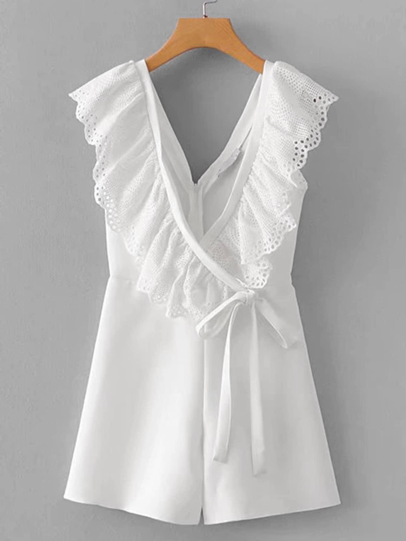 Комбинезон  Белый цвета