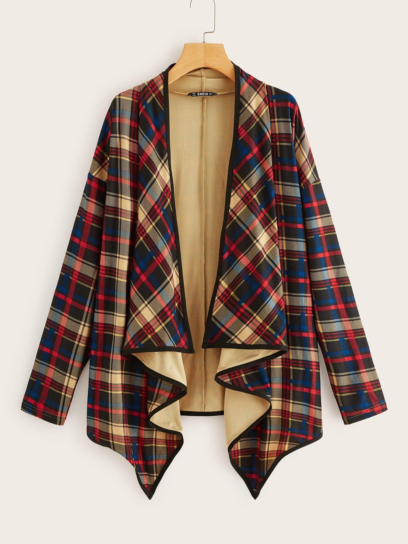 Пальто  многоцветный цвета