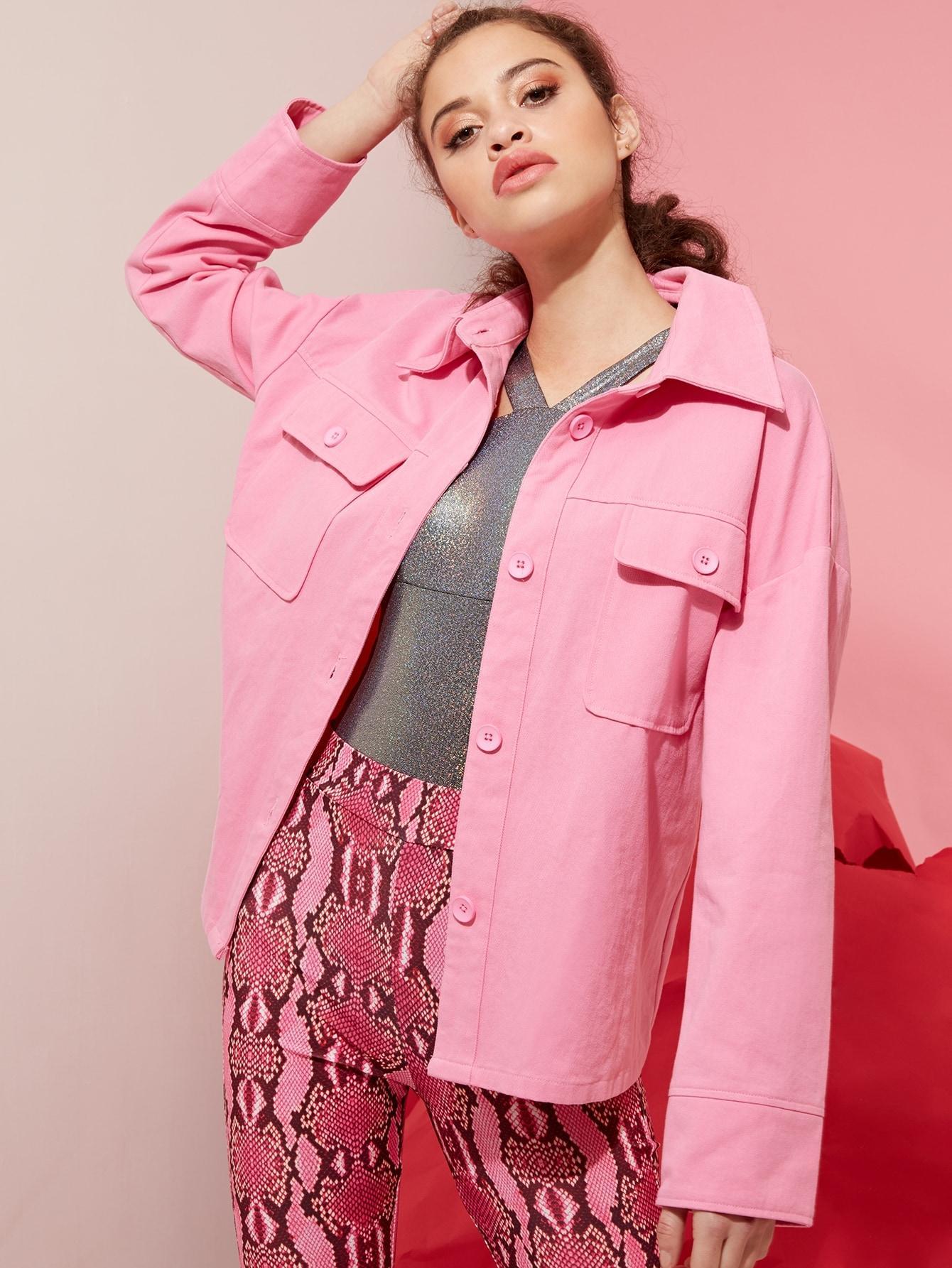 Пальто  - Розовый цвет
