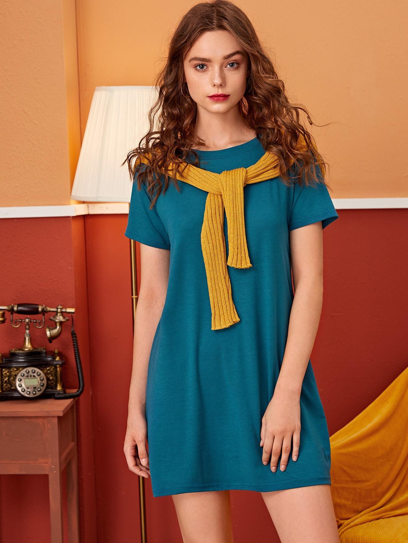 Платье  - Синие цвет