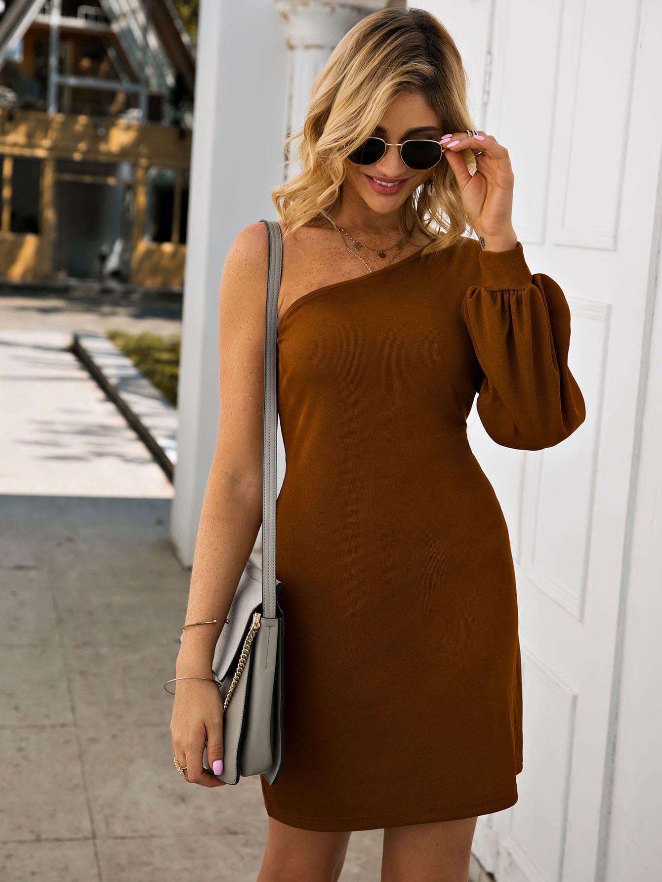 Платье  - Коричневые цвет