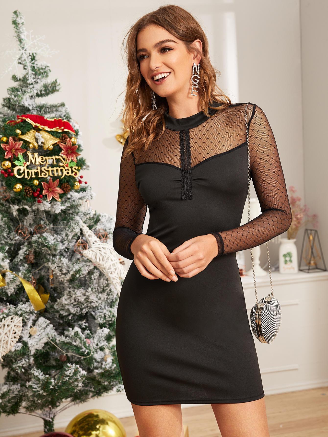 Платье  - Чёрные цвет