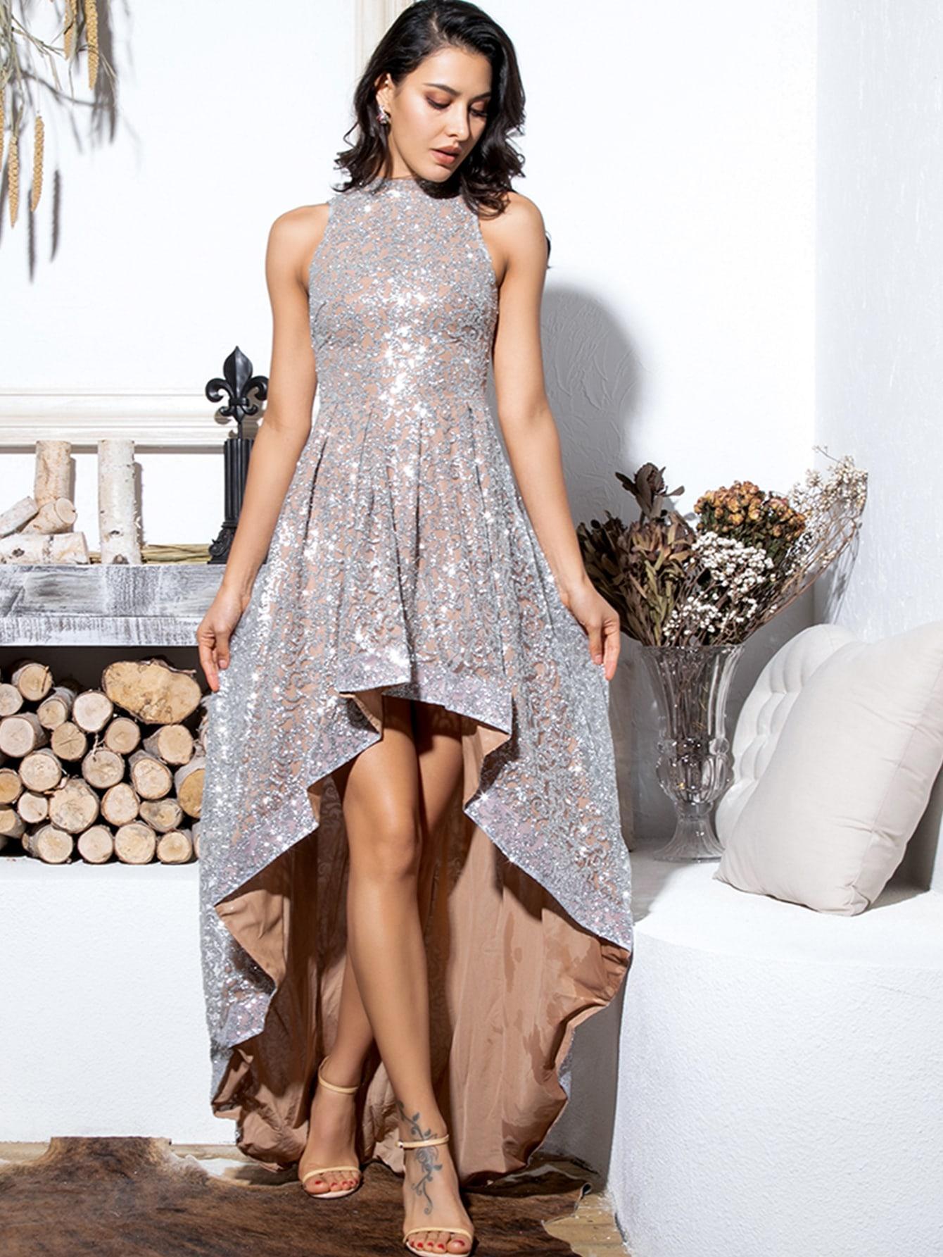 Платье  - Серые цвет