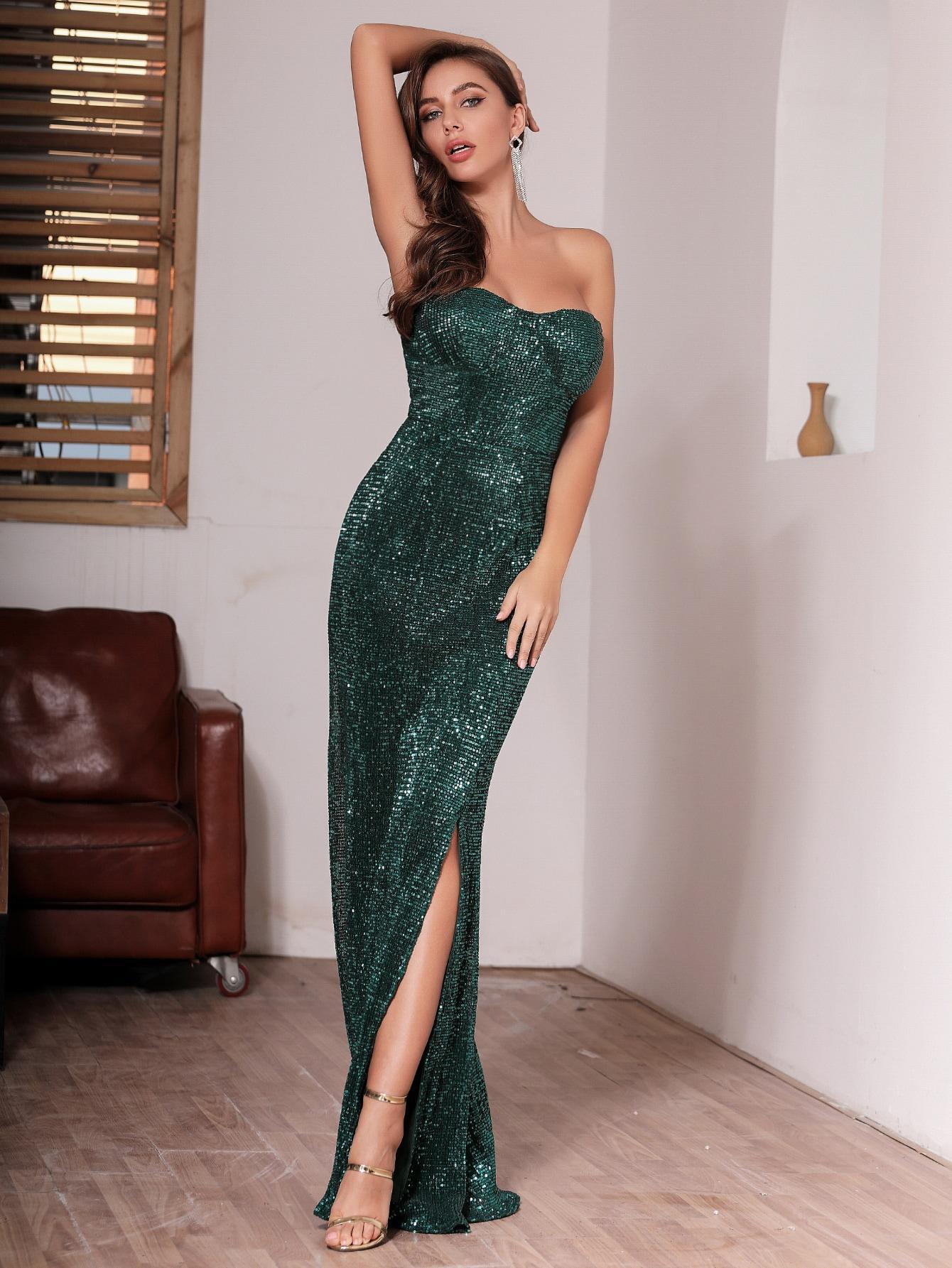 Платье  - Зелёные цвет