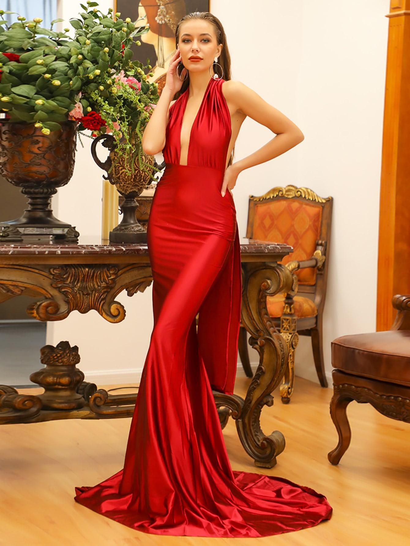 Платье  - Красные цвет