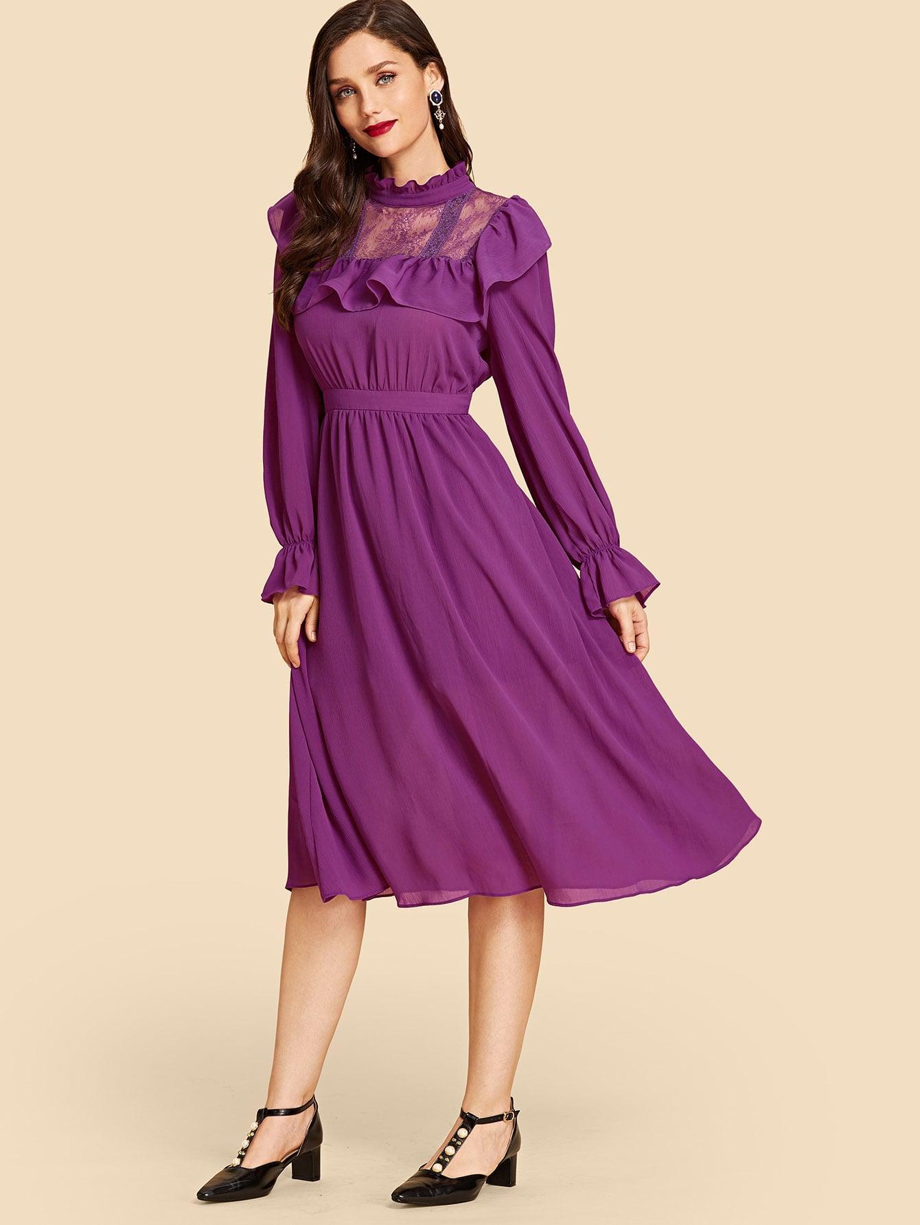 Джинсовые шорты  Фиолетовый цвета