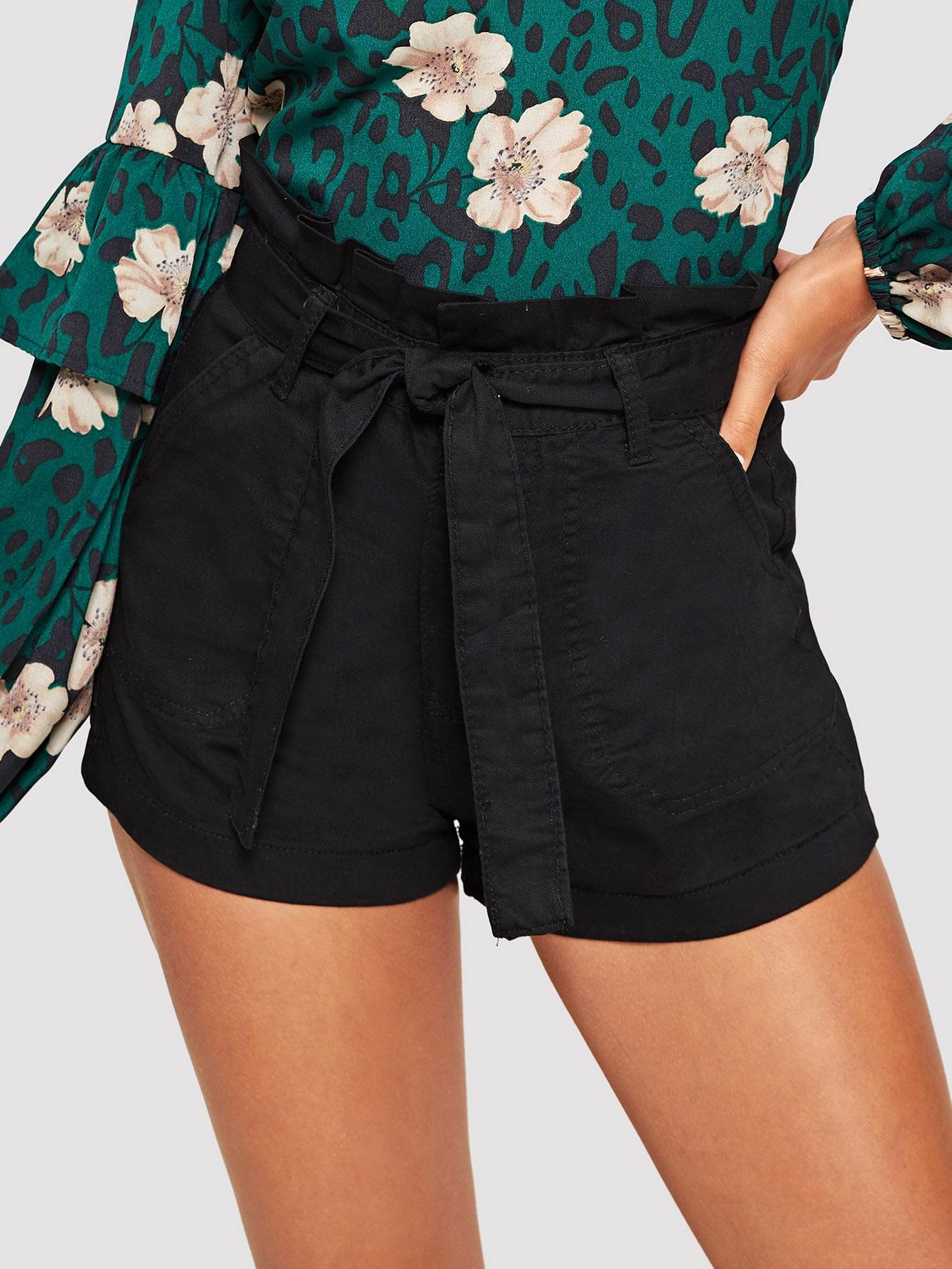 Джинсовые шорты  Черный цвета