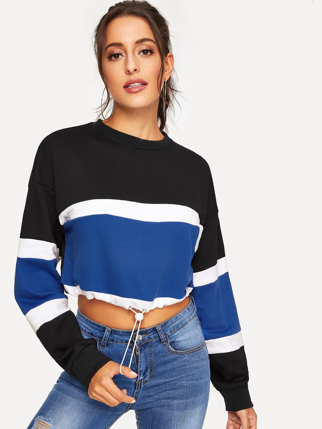 Джинсовые шорты  - Многоцветный цвет