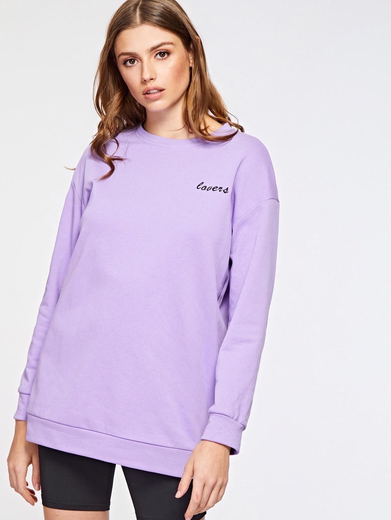 Свитшот  - Фиолетовый цвет