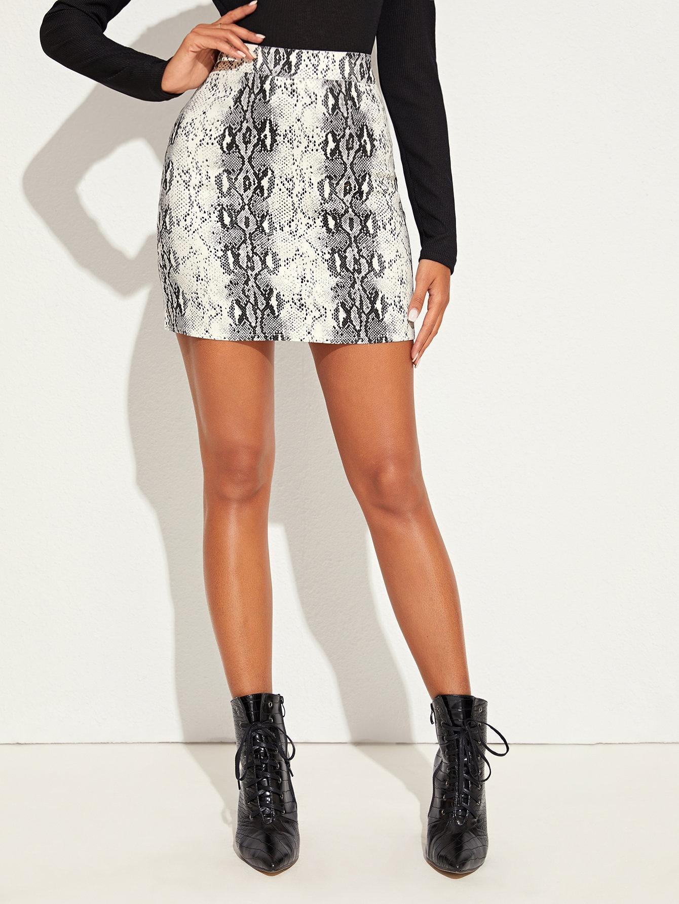 Джинсовая юбка  - Многоцветный цвет