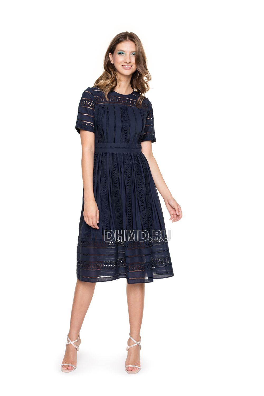 Платье  - тёмно-синий цвет