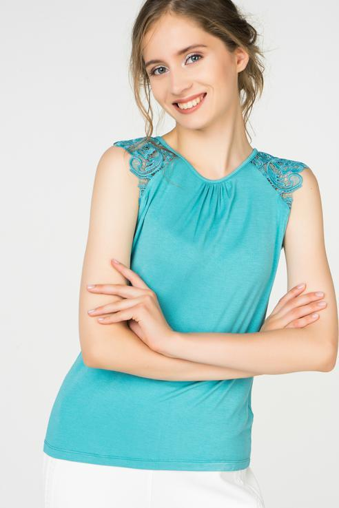 Блузка  - Светло-зеленый цвет