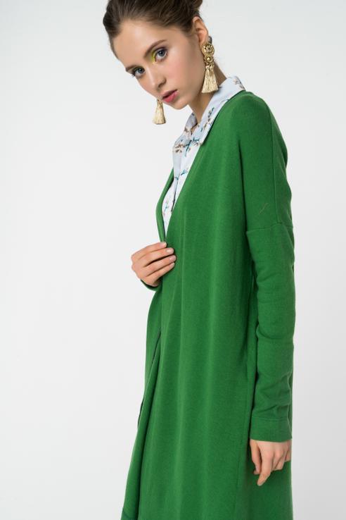 Кардиган  - Зеленый цвет