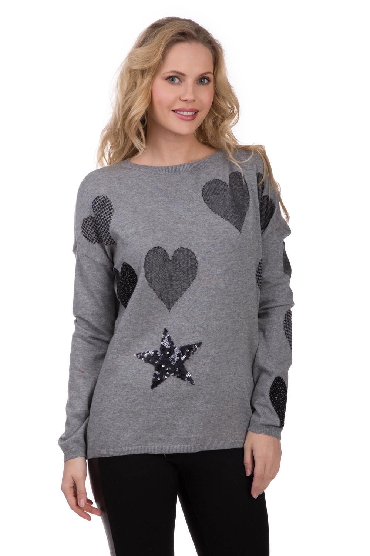 Пуловер  Чёрный цвета