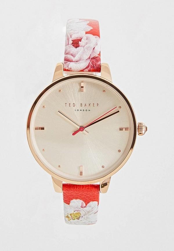 Часы  красный цвета