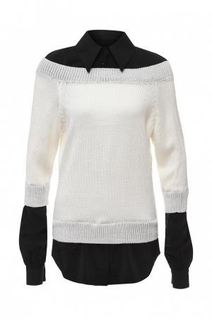 Джемпер  черно-белый цвета