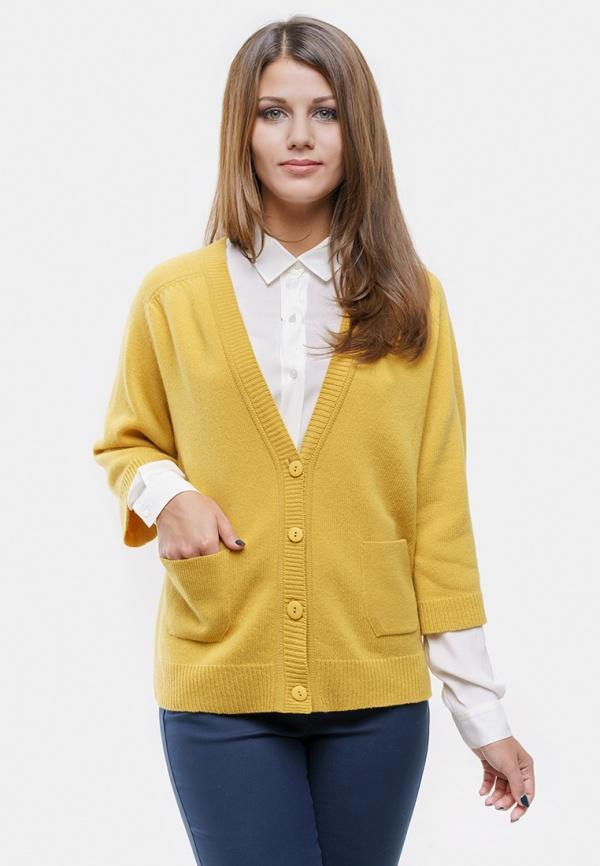 Кардиган  - желтый цвет