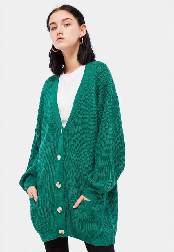 Кардиган  зеленый цвета