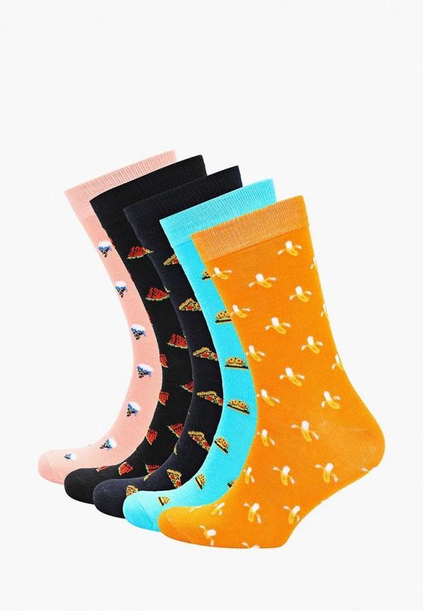 Носки  - голубой, оранжевый, розовый, синий, черный цвет