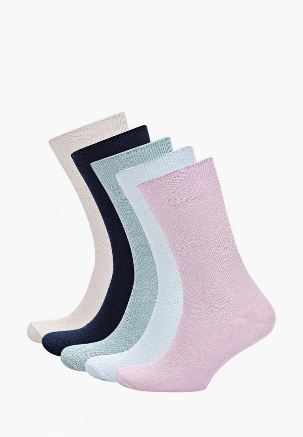 Носки  - бежевый, голубой, розовый, синий цвет