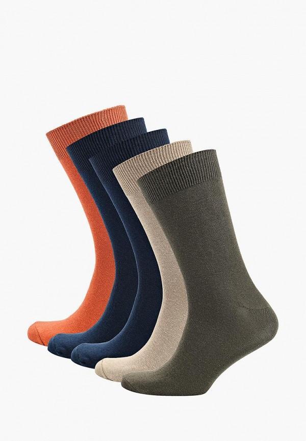 Носки  - бежевый, зеленый, оранжевый, синий цвет