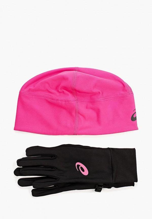Перчатки  - розовый, черный цвет