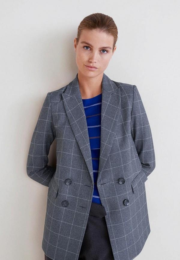 Пиджак  серый цвета