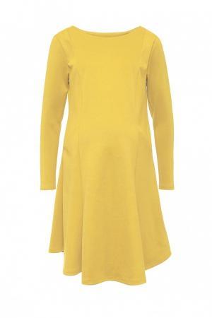 Платье  желтый цвета