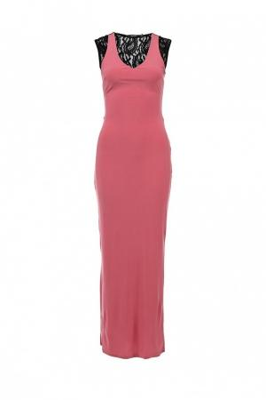 Платье  розовый, черный цвета