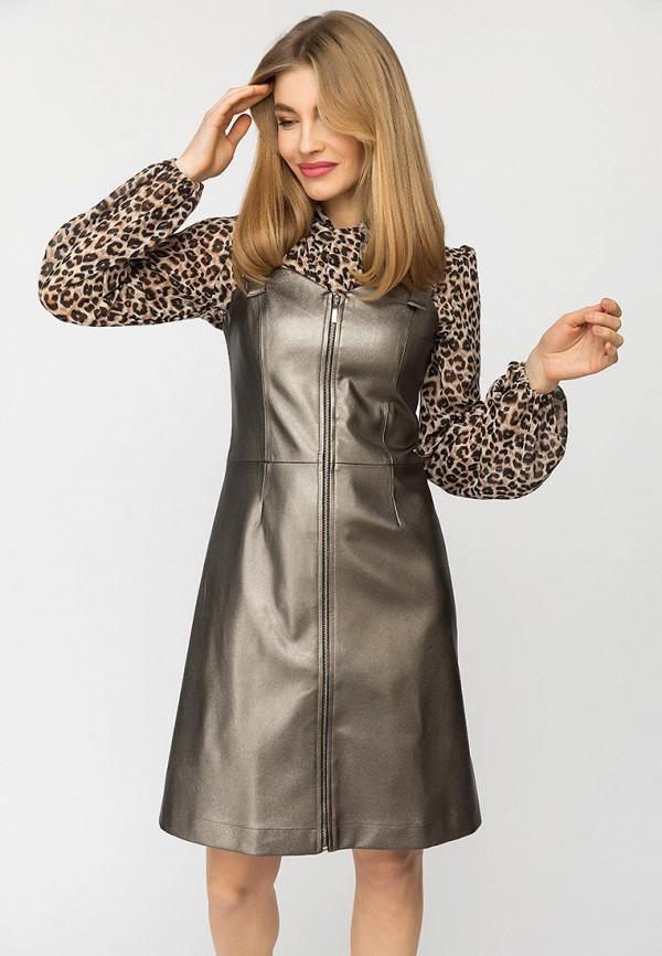 Платье  - серебряный цвет