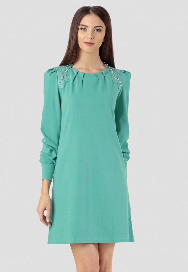 Платье  зеленый цвета