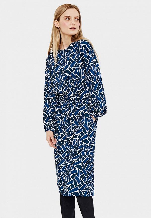 Платье  синий цвета
