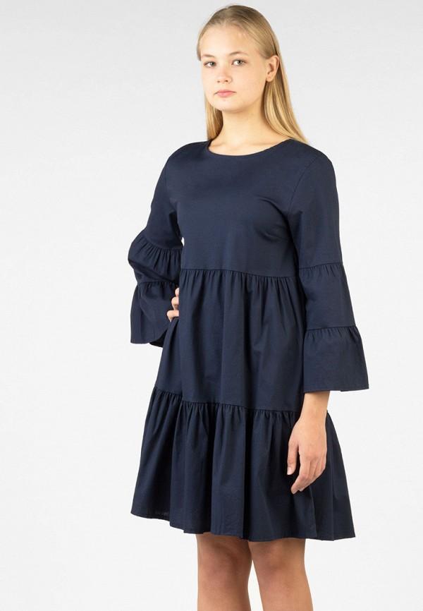 Платье  - синий цвет