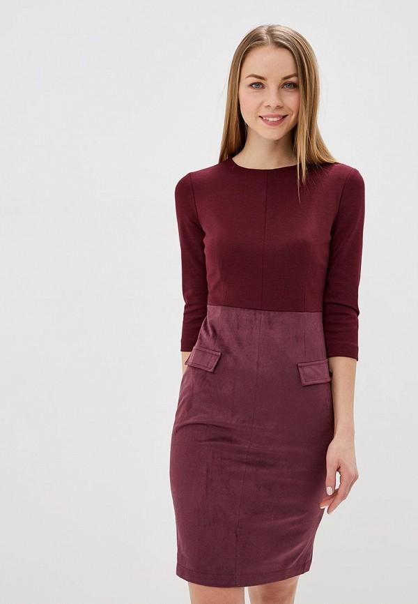 Платье  бордовый цвета